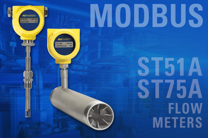 Modbus now available on range of compact thermal mass air/gas flow meters